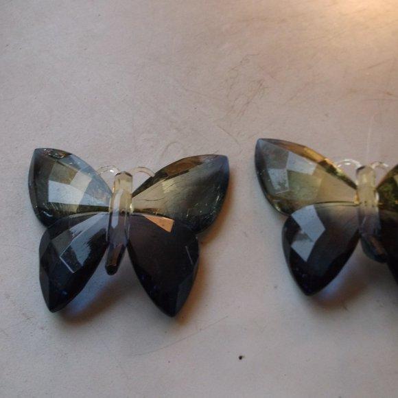 vintage lucite butterflys.  decorations.